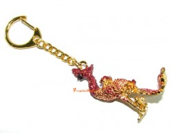 Crimson Phoenix Keychain