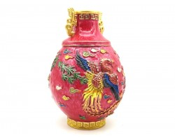 Crimson Phoenix Vase
