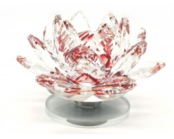Crystal Feng Shui Lotus Flower (Red)