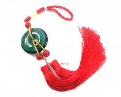 Crystal Glass Coin Tassels