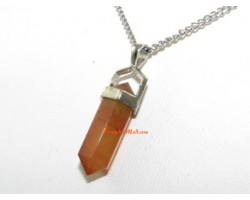 Crystal Point Pendant Double Terminated -  Agate (S)