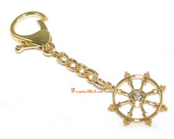 Dharmachakra Wheel of Fortune Keychain