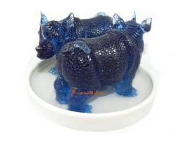 Double Blue Rhinoceros Feng Shui Cure