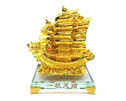 Golden Double Dragon Wealth Ship for Prosperity