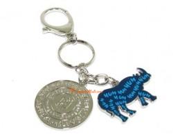 Double Horned Blue Rhinoceros Anti Burglary Amulet