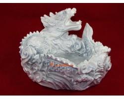 Good Fortune Dragon Tray (White)