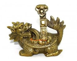 Brass Dragon Tortoise with Ruyi