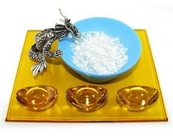 Dragon with Water Bowl and Ingots