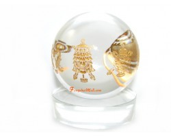 Eight Auspicious Objects Crystal Ball