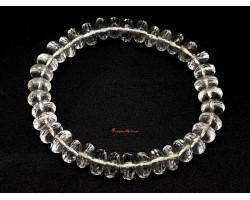 Faceted Clear Quartz Abacus Beads Bracelet