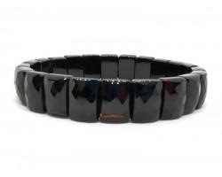 Faceted Rectangular Onyx Crystal Bracelet