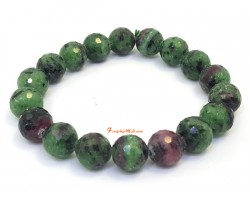 Faceted Ruby Zoisite Bracelet (10.5 mm)