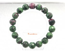 Faceted Ruby Zoisite Bracelet (11.5 mm)