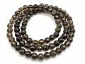 Faceted Smoky Quartz 3-Round Bracelet 6mm
