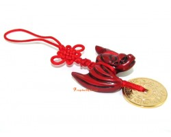 Feng Shui Fortune Bat with Gold Coin Hanging