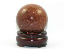 Feng Shui Crystal Ball – Gold Sand