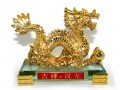 Golden Imperial Dragon Statue
