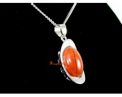 Feng Shui Ingot Crystal Pendant with Necklace