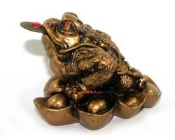 Money Frog on Gold Ingots Prosperity Luck
