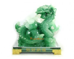 Jadeite Prosperity Dragon with Wu Lou for Health