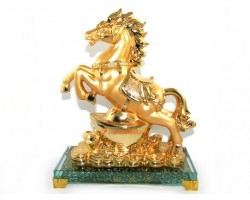 Horse of Success with Gold Ingot and Coins