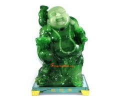 Jadeite Standing Good Fortune Laughing Buddha
