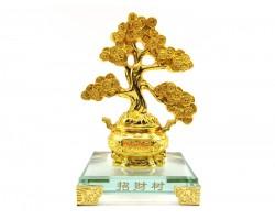 Exquisite Golden Feng Shui Money Coins Tree on Wealth Pot