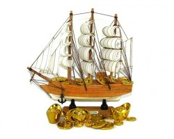 Feng Shui Wealth Ship (9 inches)