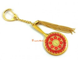 Fire Protection Wheel Mirror of Avalokiteshvara Keychain