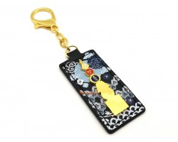Five Element Pagoda Keychain with Om Ah Hum