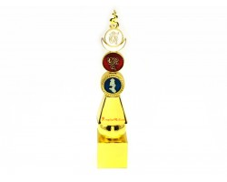 Five Element Pagoda With Om Ah Hum (8 inches)