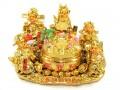 Five Directional Deities of Wealth with Wealth Pot