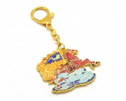 Flying Windhorse Amulet Keychain