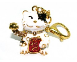 Fortune Cat for Money Luck Keychain