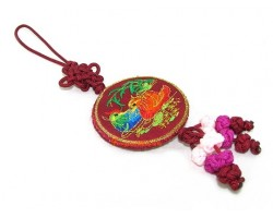 Fragrance Embroidered Mandarin Ducks Hanging