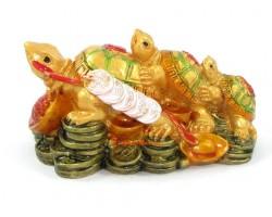 3-Tier Fuk Luk Sau Feng Shui Tortoise
