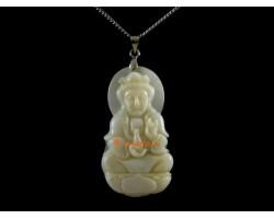 Goddess Kuan Yin Shell Pendant