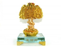 Gold Ingots and Coins Laden Feng Shui Tree