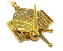 Abacus with Fan Feng Shui Keychain