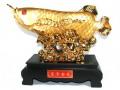 Exquisite Golden Arowana with Lotus Flower (XL)