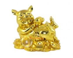 Golden Good Fortune Pig