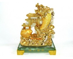 Golden Dragon Carp Crossing Dragon Gate
