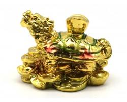 Golden Feng Shui Dragon Tortoise