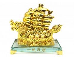 Golden Dragon Wealth Ship for Prosperity