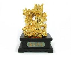 Golden Imperial Feng Shui Dragon Spouting Sheng Chi