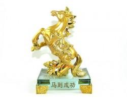 Golden Feng Shui Victory Horse