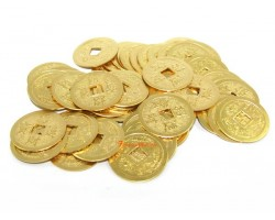 Golden Feng Shui Coins - 50 pieces