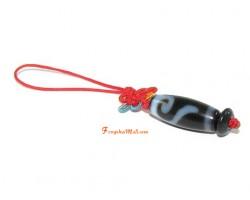 Dzi Amulet Hanging - Golden Hook