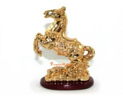 Golden Horse on Bed of Coins