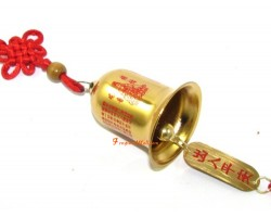 Golden Kuanyin Protection Bell Hanging
